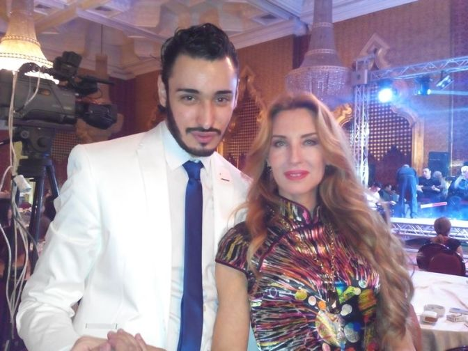 Khalil with the beautiful Samara Hayat at the Opening Gala of the AWS Festival in Cairo