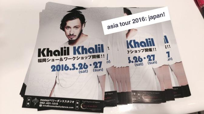 """Khalil Khalil """"Asia Tour 2016″ Japan! """" 2 Concerts """""""