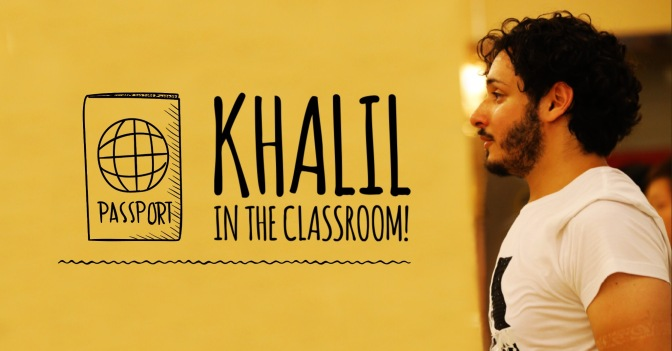 Khalil in Shangai, China. In the classroom!